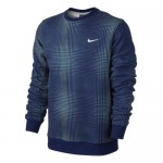 NIKE CLUB CREW-AOP TECH PLAID 614642 455